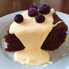 Hot Chocolate Cake with Honeyed Cream