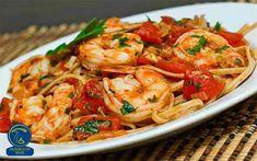 تالیاتلی با میگو و قارچ Sauce Recipes, Seafood Recipes, Pasta Recipes, Cooking Recipes, Healthy Recipes, Copycat Recipes, Recipe Pasta, Cooking Tips, Recipe Key