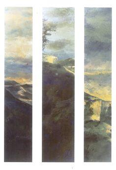 """""""Luz en el horizonte"""" exposición de Miguel Ángel Moset en la Galería Pilares Cuenca 1998 #GaleriaPilares #Cuenca #MiguelAngelMoset"""