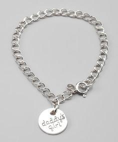 Sterling Silver 'Daddy's Girl' Bracelet