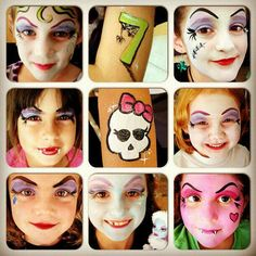 Monster high face painting. Monster High party ideas.