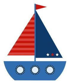 Photo shared on MeowChat Baby Shower Marinero, Sailboat Drawing, Sailor Theme, Nautical Party, Clipart Images, Baby Boy Shower, Baby Quilts, Applique, Scrapbooking