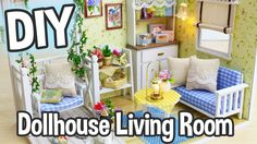 DIY Miniature Dollhouse Kit Cute Living Room Roombox with Working Lights...