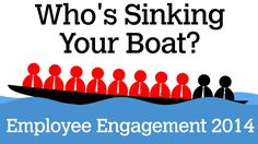 Employee Engagement - Who's Sinking Your Boat? Did you know that 7 out of 10 employees are dis-engaged, and 2 out of 10 are actually trying to sink your boat?