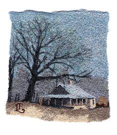 holmestead by Lauren Finley Free Machine Embroidery, Textile Artists, Throw Pillows, Stitch, Toss Pillows, Full Stop, Cushions, Decorative Pillows, Decor Pillows