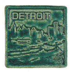 Pewabic Pottery Detroit Tile - Detroit Institute of Arts Museum Shop Detroit Skyline, Detroit Michigan, Metro Detroit, Pewabic Pottery, Pottery Art, Buddys Restaurant, Art Nouveau Tiles, Art Deco, Detroit History