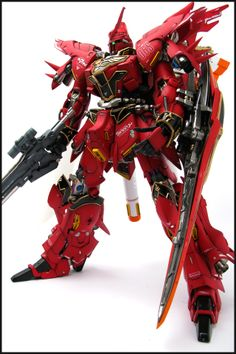 GUNDAM GUY: G-System 1/72 MSN-06S Sinanju - Painted Build w/ LED