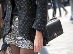You can never go wrong with a chain-strapped bag.