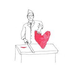 The Secret Life of Love. Day #237. #sliceoflove #deli #sketch #sketchaday #illustration