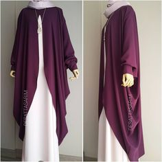 No photo description available. Abaya Fashion, Modest Fashion, Fashion Dresses, Muslim Women Fashion, Islamic Fashion, Estilo Abaya, Moslem, Mode Abaya, Abaya Designs