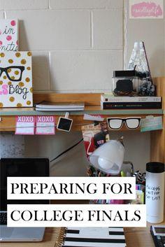 Finals Preparation   http://www.thecollegelfestylist.com/blog/2015/4/22/finals-preparation