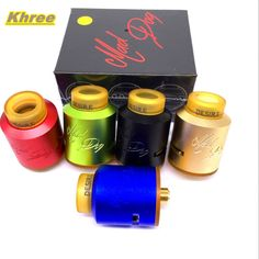 Khree Electronic Cigarette  Mad Dog Rda  Atomizer 510 Vaporizer 24mm Wild Dripka with PEI Drip Tip Wide Bore
