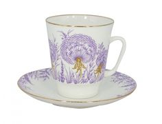 Lomonosov Porcelain Bone China Espresso Cup May Dandelion 5.6 oz/165ml