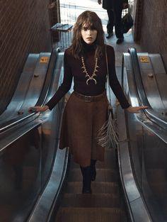 street style on an escalator.