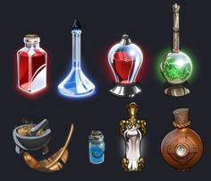 Bottle designs I did for a group project that I started with some friends from gaia~! I learned allot while doing these, particularly how to paint glass. Its still not technically correct, but I th...