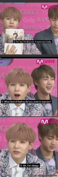 sleepy suga as always! XDD | allkpop Meme Center