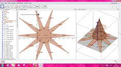 Video construcción PIRÁMIDES con geogebra.Cálculo de áreas y volúmenes