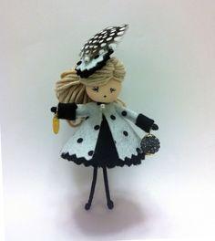 Broche muñeca Moñita Gabanna, Complementos, Broches