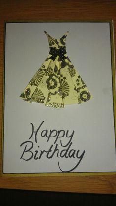 Birthday card 3d dress