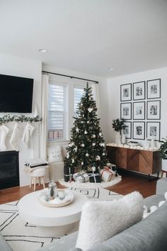 I'm finally sharing my holiday decor! We've had almost everything up for a while, but I didn't want to share our space until everything I ordered came in. Of course, we kept things very simple, neutra Christmas On A Budget, Christmas Love, Victorian Christmas, Christmas 2019, Christmas Trees, Vintage Christmas, Christmas Mantels, Holiday Ornaments, Merry And Bright