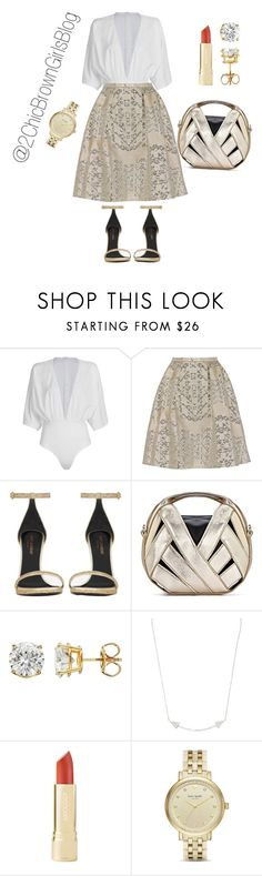 """Camila's first date"" by chicbrowngirlblog ❤ liked on Polyvore featuring WithChic, Peter Pilotto, Yves Saint Laurent, Karma Jewels and Kate Spade"
