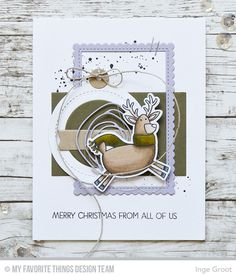 Merry Everything Stamp Set and Die-namics, Tag Builder Blueprints 6 Die-namics, Stitched Rectangle Scallop Edge Frames Die-namics - Inge Groot  #mftstamps