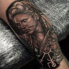 Cool Lagertha by Tom Hayes. Vikings tattoos
