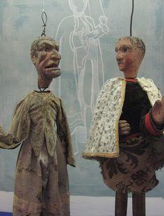puppets in folk art museum