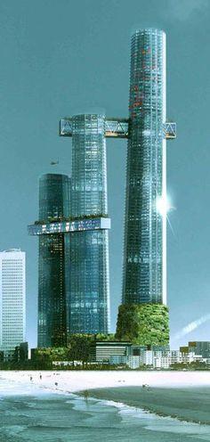 Krrish Square Tower 1, Colombo, Sri Lanka designed by Maison Edouard Francois and C.P. Kukreja