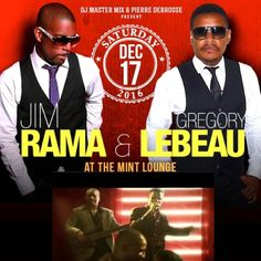 """Please join us to the """"end of the year party"""" with """"DJ Master Mix & Friends"""" featuring the hottest Zouk singer on the planet """"Jim Rama"""" Saturday, December 17, 2016 at the """"Mint Lounge"""", 1 Ring Rd, West Garden City NY (across the street of the Roosevelt Field Mall). Call Gregory for tickets and RSVP at (516) 574-2413."""