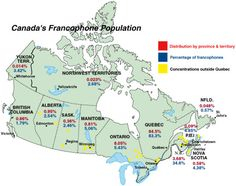 Canada's francophone population: Canadian Geographic Magazine À la Carte… Core French, French Class, French Teacher, Teaching French, How To Speak French, Learn French, All About Canada, Canadian Culture, French Education