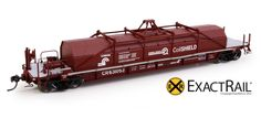 """The Thrall 54' """"Coil Shield"""" Coil Car is a signature prototype like few others. In 1992, Conrail purchased a unique """"well"""" style coil gondola, and they assigned it the car class G52S. Through 1995, Co"""