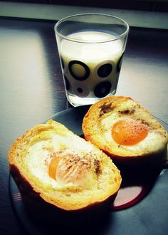 Avocado Egg, Glass Of Milk, Eggs, Breakfast, Breakfast Cafe, Egg, Avocado Egg Boats, Egg As Food