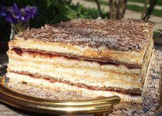 diana's cakes love: Prajitura Ramona- foi, nuca si crema de vanilie Romanian Desserts, Diana, Something Sweet, Chocolate Cake, Tiramisu, Gem, Caramel, Sweet Tooth, Sweets