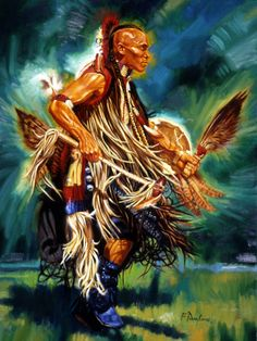 Dance of The Cherokee 15x20 Artist Embelished Canvas Giclee