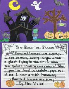 FUN Haunted House Writing & Art Activity