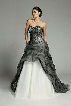 Mariage-robe-de-mariee-blanche-noire-robe-de-soiree-de-bal-wedding-evening-dress