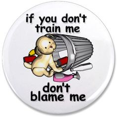 """Train me 3.5"""" Button"""