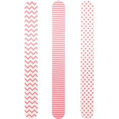 Accessorize Set Of 3 Nail Files (12 BAM) ❤ liked on Polyvore featuring beauty products, nail care, manicure tools, beauty, makeup, nails and filler
