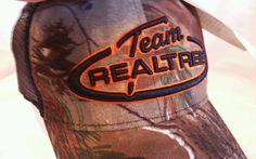 Mens Team Realtree Orange Camo Outdoor Cap Hat Mesh Back Velcro One Size NWT #Realtree #BallCap