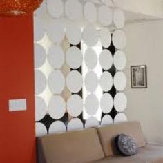 Hanging circles room screen divider