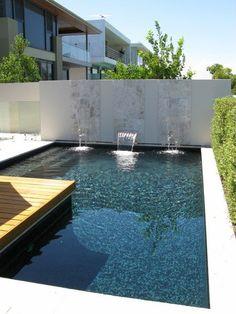 Best Pool Tiles Option for Your Swimming Pool Mini Swimming Pool, Swimming Pool Tiles, Swimming Pools Backyard, Swimming Pool Designs, Pool Landscaping, Inground Pool Designs, Pool Landscape Design, Small Pool Design, Pool Waterfall