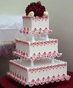 Love this square wedding cake
