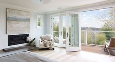Luv the idea of having beautiful french style doors that open up to the lanai with beautiful views (ocean).