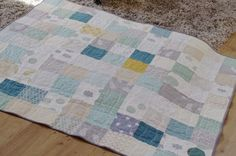 Quilt in soft colors