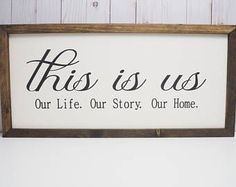 This Is Us Wooden Sign - Farmhouse Style Sign - Rustic Family Sign - Wooden Family Sign - Large Wood Signs - Farmhouse Livingroom -