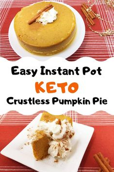 We absolutely love using our Instant Pot in creative ways and I can't think of anything more creative than a crustless pumpkin pie in the Instant Pot. This easy, no bake, keto recipe is super low carb but the filling is some of the best we've ever tried. Keto Cheesecake, Pumpkin Cheesecake, Instapot Cheesecake, Keto Pumpkin Pie, Pumpkin Recipes, Pumkin Pie, Vegan Pumpkin, Fall Recipes, Dinner Recipes