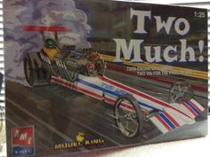 AMT Model King TWO MUCH! Rail Dragster Model Kit 1/25 Sealed  2005 Rlse Sealed #AMTModelKing