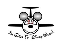 I'm Going to Disneyworld Disneyland Shirt Mickey Jet Personalized Custom Iron on Transfer Decal(iron