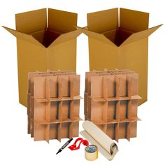 """Kitchen Moving Kit #2 2 Kitchen Boxes 18 x 18 x 28""""2 Dish & Glass Partitions3 lbs of Packing Paper55 yards of Packing Tape1 ClamShell Dispenser1 Marker Order Kitchen, Kitchen Box, Buy Kitchen, Moving Kit, Moving Boxes, Moving Hacks, House Relocation, Moving Supplies, Care Box"""